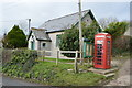 SY9381 : Reading Room and telephone box by N Chadwick