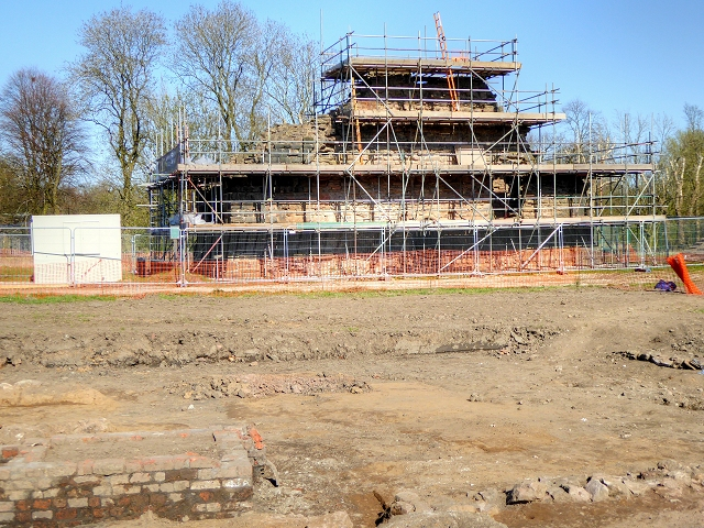 Radcliffe Tower Conservation and Archaeological Dig - April 2015