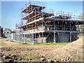 SD7907 : Radcliffe Tower Restoration Work, April 2015 by David Dixon