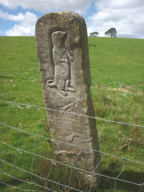 Carved stone footpath marker tatham karl and ali cc by
