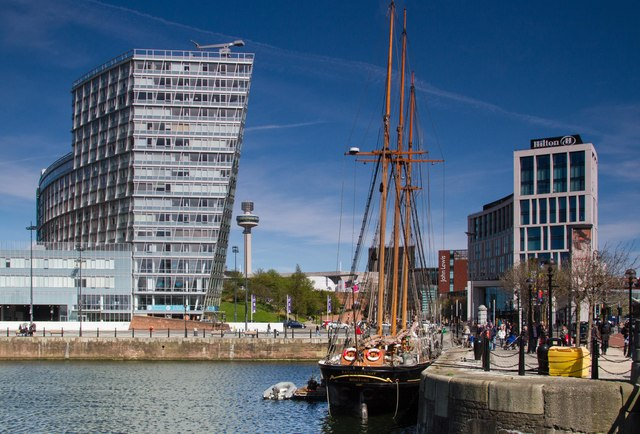 Canning Dock and Liverpool One