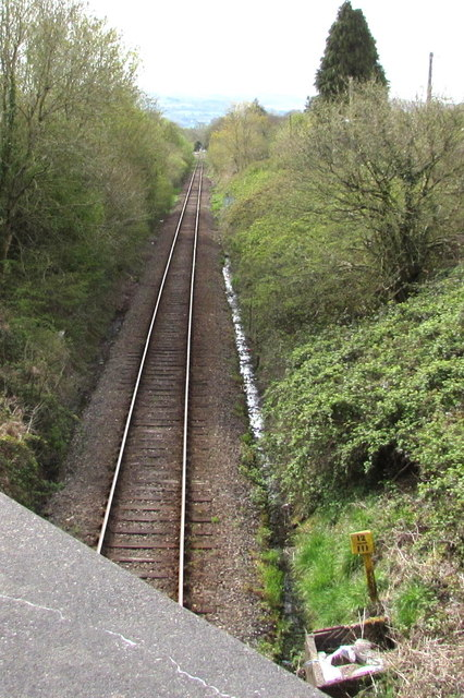 Heart of Wales Line south from Llandybie towards Ammanford