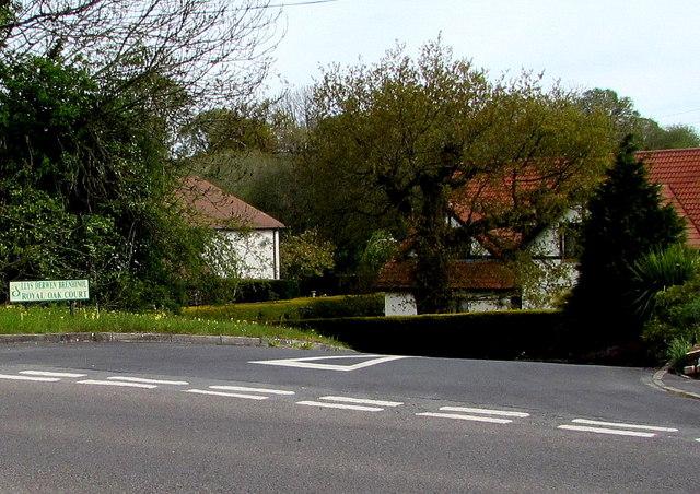 Royal Oak Court junction, Llandybie