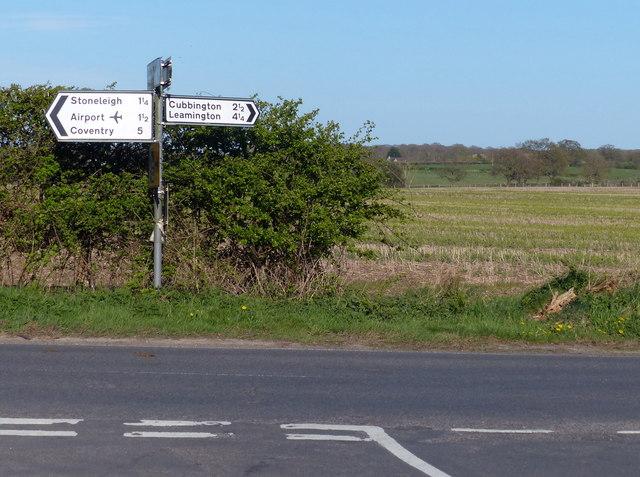 Road junction near Stareton