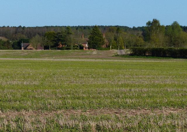 View across the fields to Waverley Farm