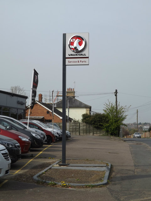 Vauxhall sign at London Road Garage