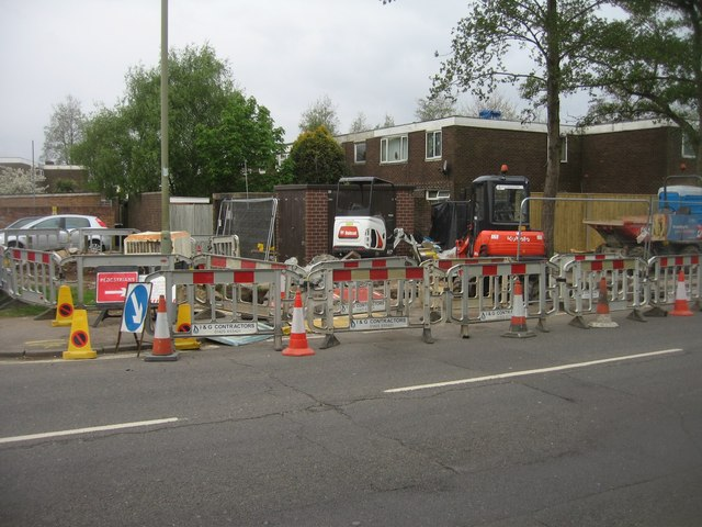 Replacing the gas main - Mayfield Road