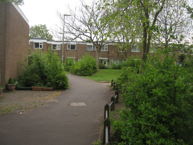 Within the housing estate