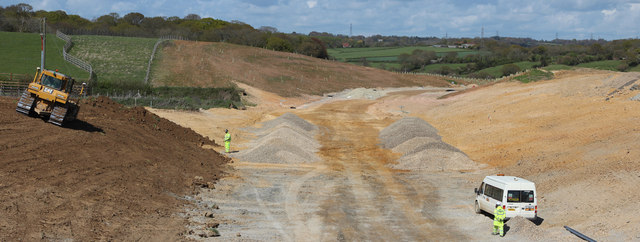 Combe Valley Way construction