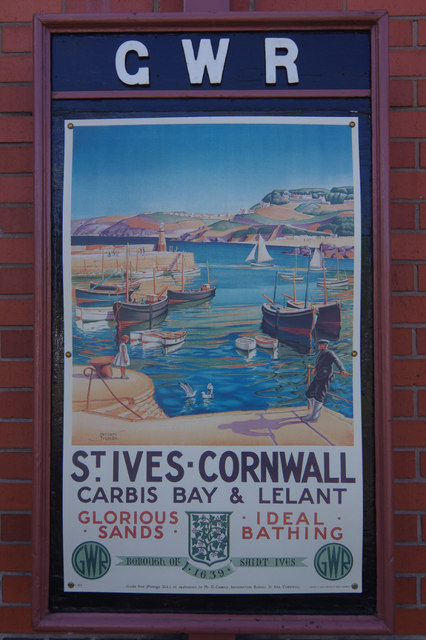 St Ives poster - Kidderminster Town Station