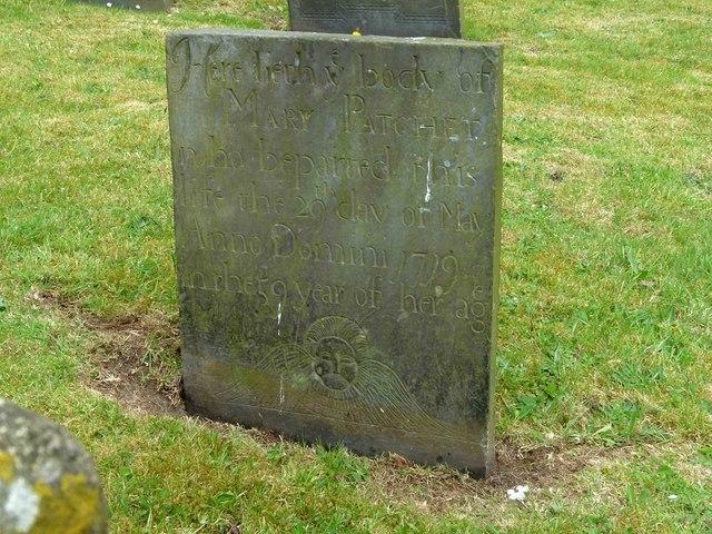 Belvoir Angel headstone, Ragdale Churchyard