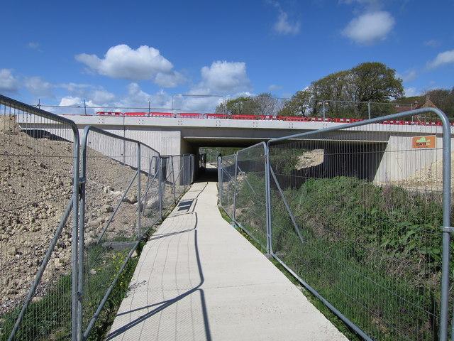 New bridge near Adam's Farm