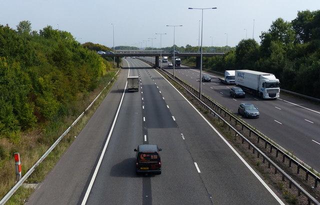 M6 motorway at junction 2