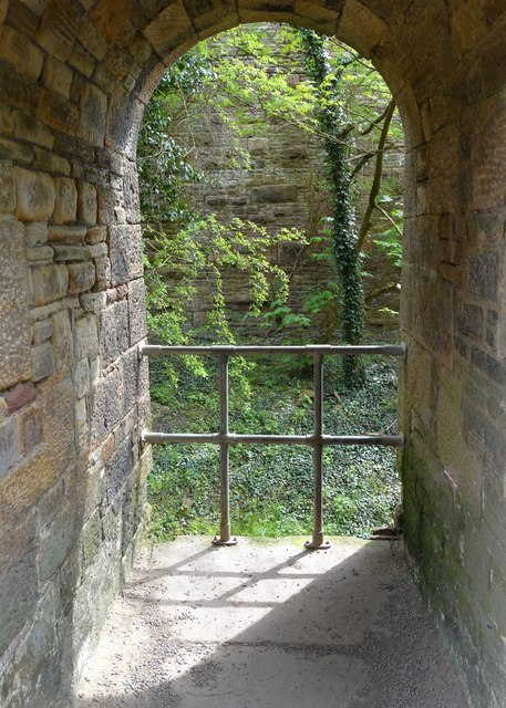 Inspection arch beneath Marple Goyt Railway Viaduct