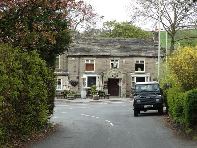 """""""The Devonshire Arms"""" in Mellor"""