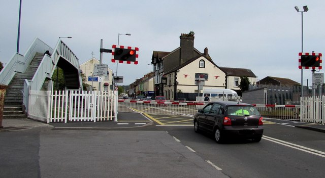 Waiting at the New Dock Road level crossing, Llanelli