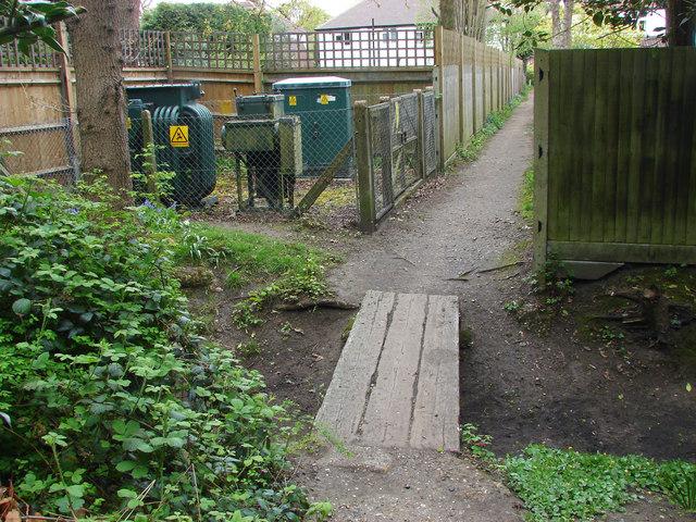 Path to Woodham Hall Estate