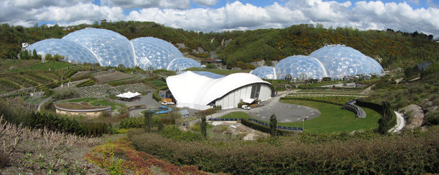 View across the Eden Project site
