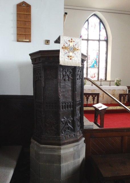 The oldest wooden pulpit in England