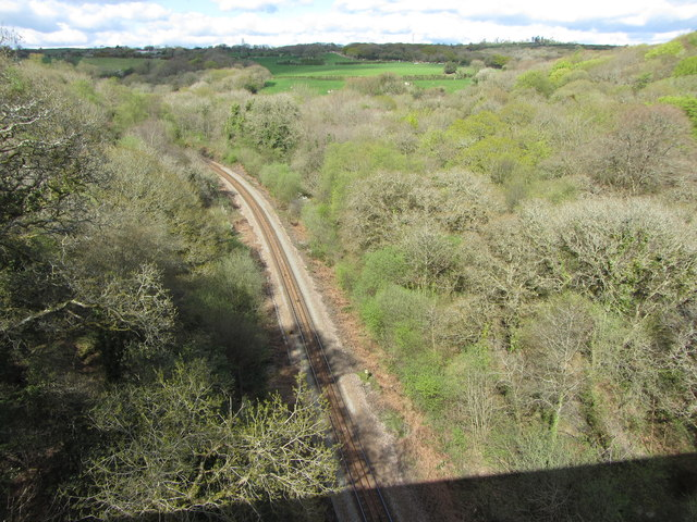 Looking north from Treffry Viaduct