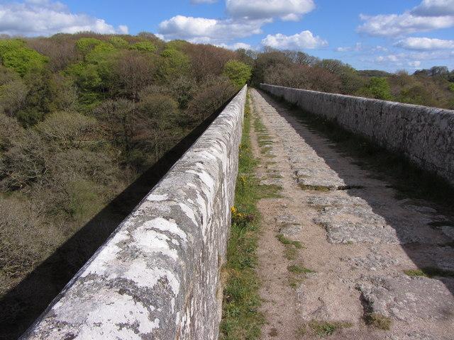 Looking along Treffry Viaduct
