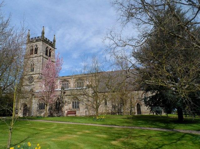 St Werburgh's church, Hanbury