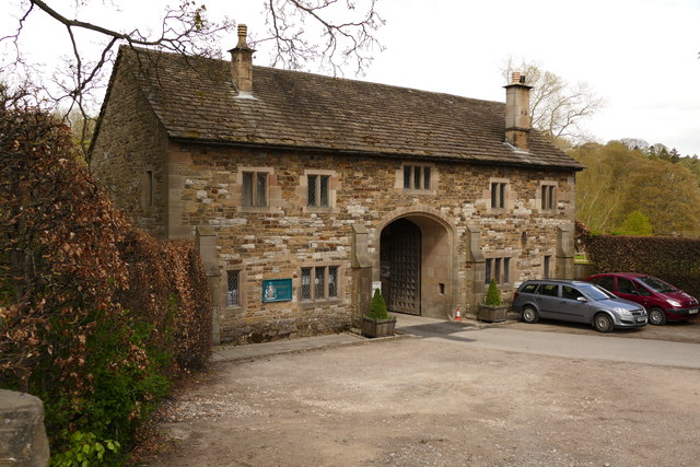 The gatehouse to Haddon Hall