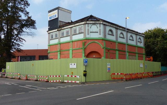 Demolition of the Mustard Nightclub