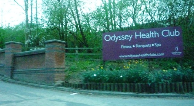 Entrance drive to Odyssey Health Club