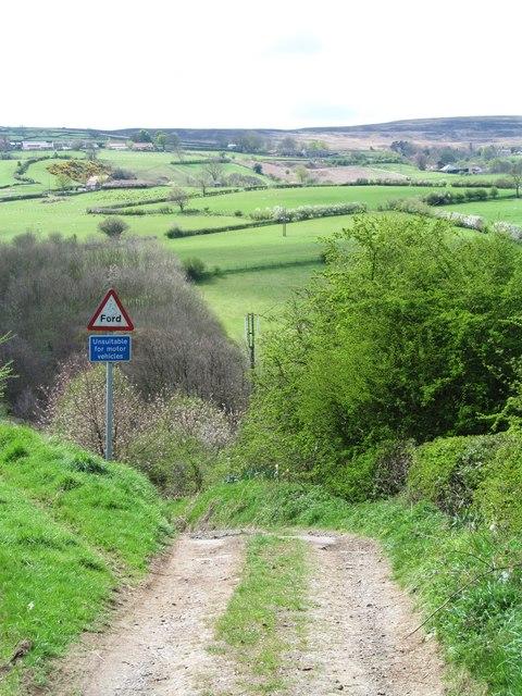 Road below Park House Farm