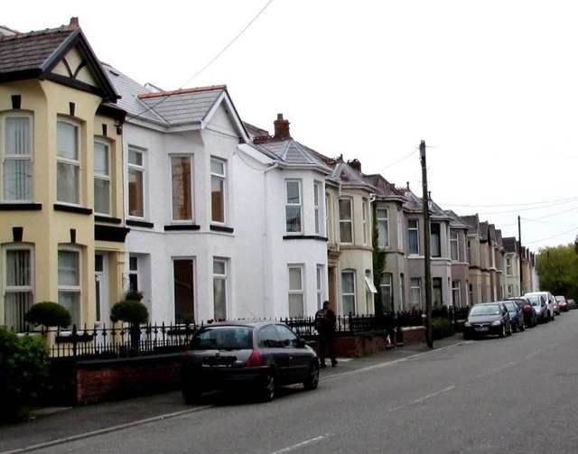 Tir y Dail Lane houses, Ammanford