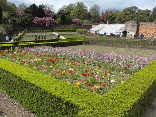Walled garden in the Lost Gardens of Heligan