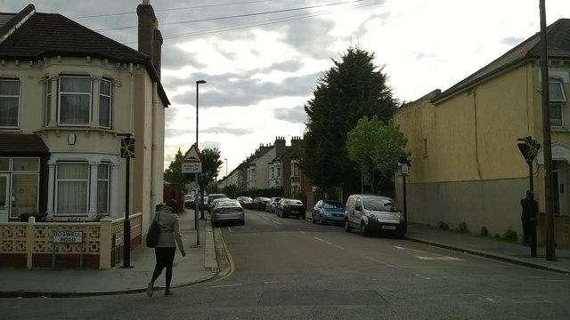 East end of Lucerne Road, Thornton Heath