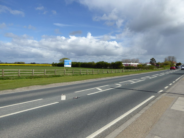 A1035 out of Beverley towards Bridlington and Hornsea