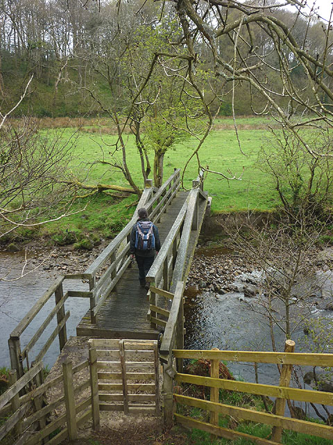 Footbridge over the River Hindburn