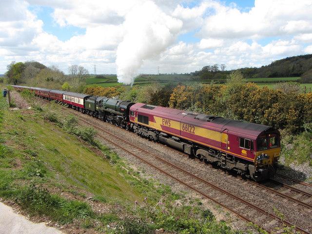 Railtour on Hemerdon Bank
