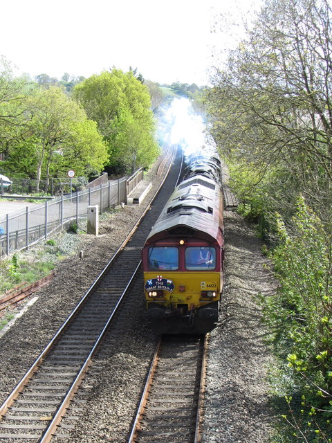 Railtour at Cullompton