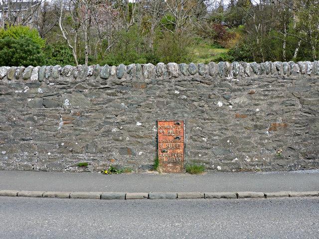Milepost at Cow and Calf
