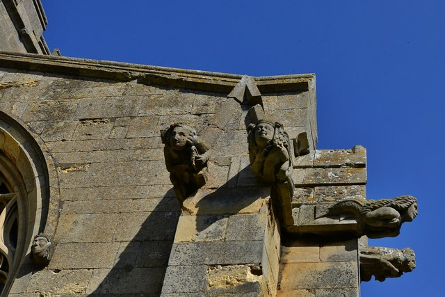 Welbourn: St Chad's Church; Grotesques