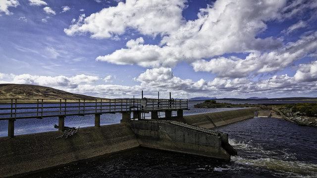 Sluice Dam on Loch Badanloch