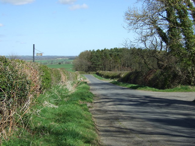 Minor road towards Eshott