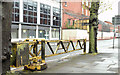 J3373 : Old security barrier, Donegall Pass, Belfast (May 2015) by Albert Bridge