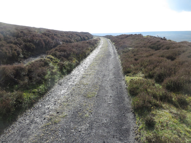 Old rail track above Thorgill Bank
