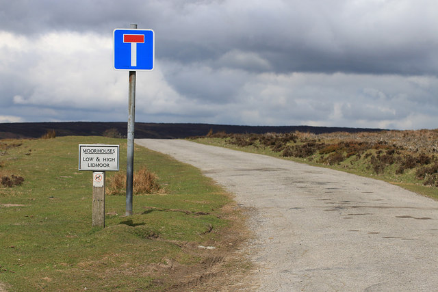 Access road to farms in the dale
