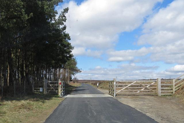 Resurfaced moorland road