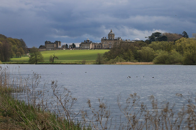 Castle Howard viewed over the Great Lake