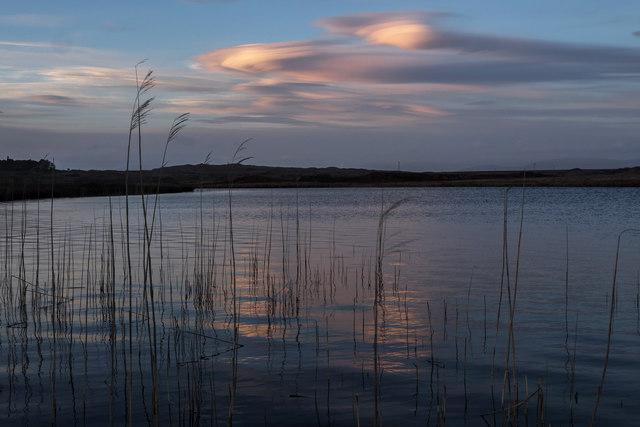 Loch Hempton and lenticular clouds