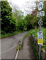 ST7859 : No cycling or horse riding on a footpath near Freshford Village Memorial Hall by Jaggery