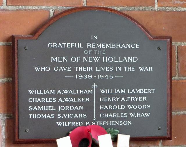 New Holland - War Memorial 1939-1945