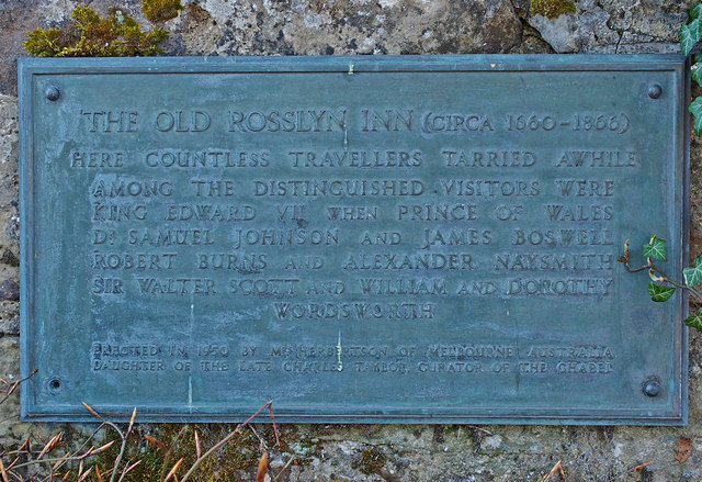 Plaque, Old Rosslyn Inn